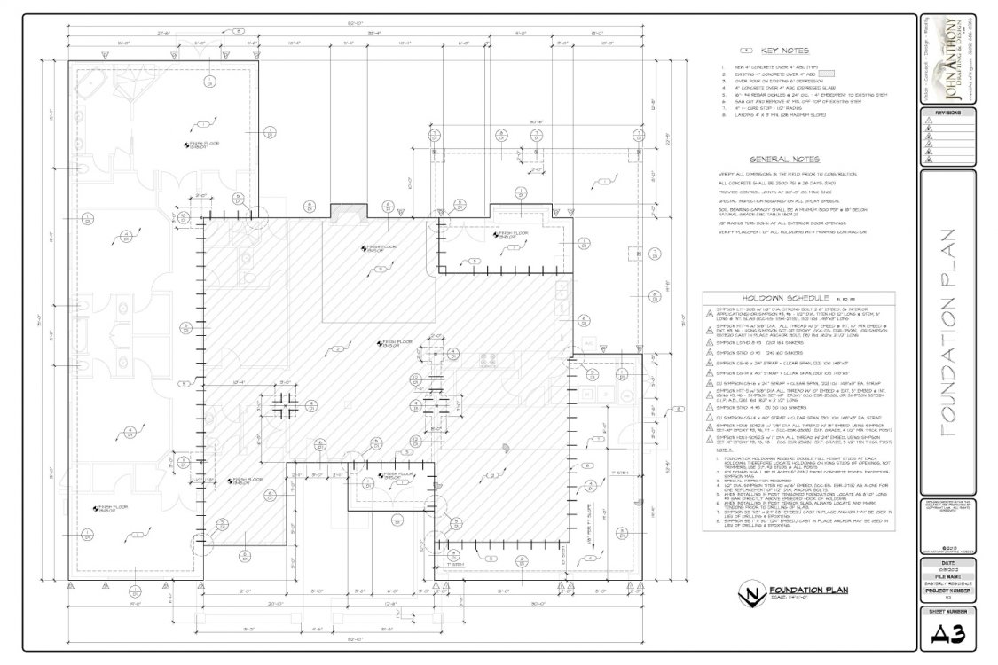 Construction Plan Set By John Anthony Drafting And Design Residential Electrical General Notes A3 Foundation 5 1