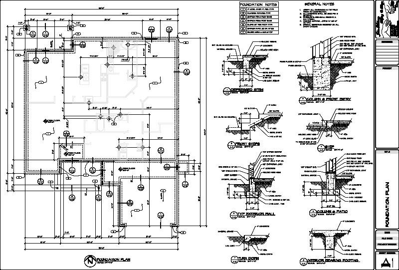 Fountain hills arizona custom home design gallery for Foundation blueprints